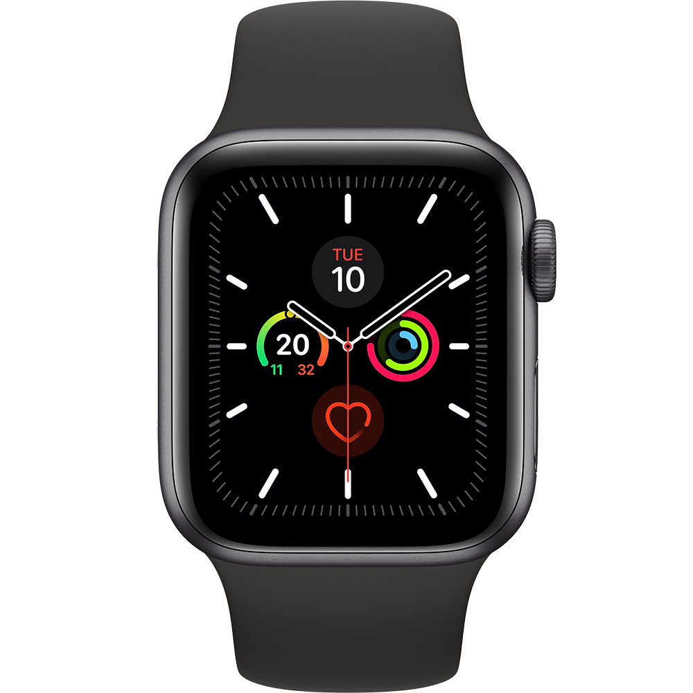 Watch 5 GPS Black Aluminium 44MM And Black Silicone Band